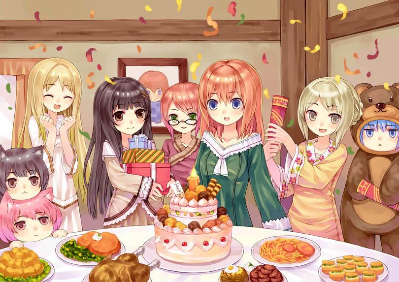 Картинки аниме день рождение девочки