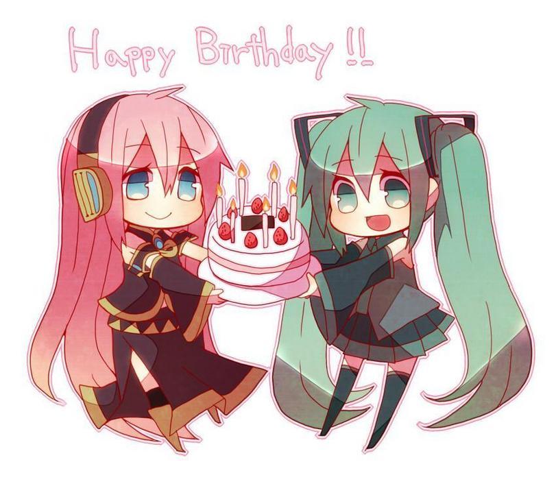 Картинка аниме с днём рожденья или рождения поздравления 847