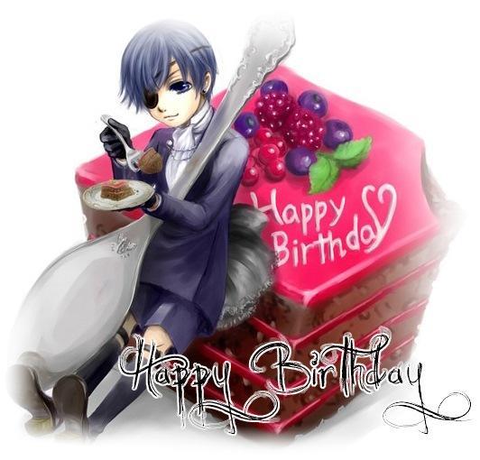 С днем рождения открытка для женщины аниме, директору картинка