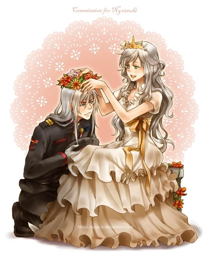 Картинки аниме король и королева