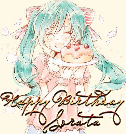 картинки с днём рождения анимешные