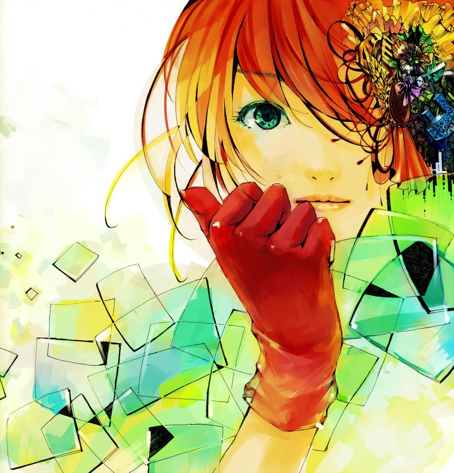 Рыжая кудрявая девочка